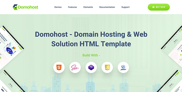 Domohost - Domain Hosting & Website Solution HTML Template - Technology Site Templates
