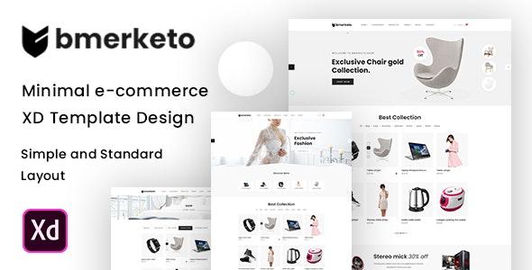 Bmarketo - Minimal E-commerce XD Template - Shopping Retail