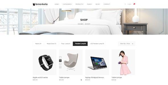 Bmarketo - Minimal E-commerce XD Template