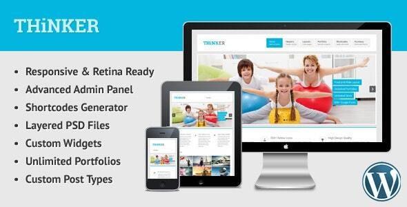 Thinker - Retina Responsive Multipurpose WP Theme - Creative WordPress
