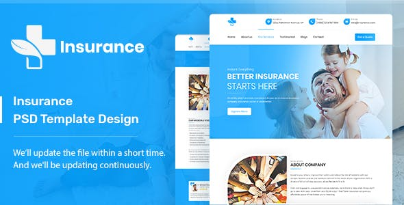 Insurance - PSD Template