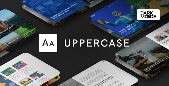 Download Uppercase - WordPress Blog Theme with Dark Mode