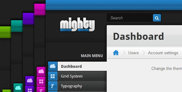 Mighty Admin - Responsive Template