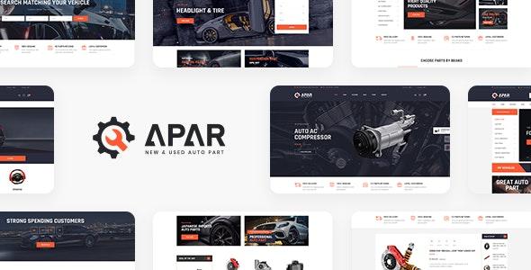 Apar - Auto Parts WordPress Shop Theme - WooCommerce eCommerce