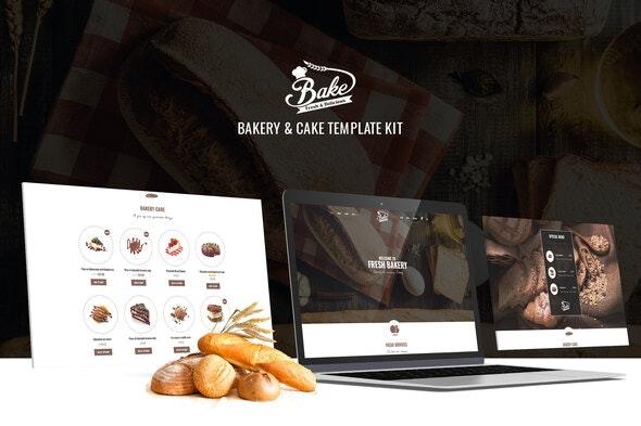 Bake - Bakery & Cake Elementor Template Kit - Food & Drink Elementor