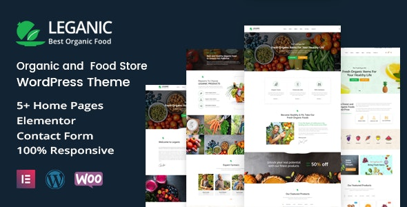 Leganic - Organic and Food Store WordPress Theme - Food Retail