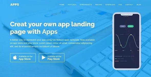 APPS - Responsive App Landing WordPress Theme