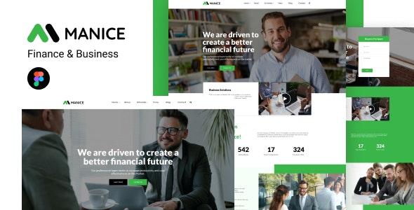 Manice - Business Figma Template - Business Corporate