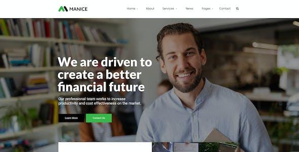Manice - Business Figma Template