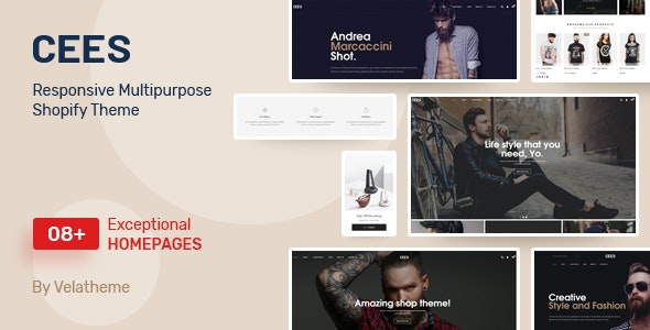 Cees - Responsive Multipurpose Shopify Theme - Fashion Shopify