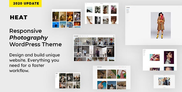 Heat - Responsive Photography WordPress Theme - Photography Creative