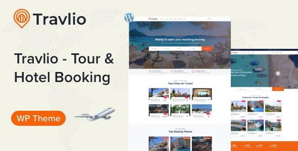 Travlio - Travel Booking WordPress Theme - Travel Retail