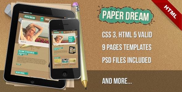 Paper Dream - Creative Site Templates