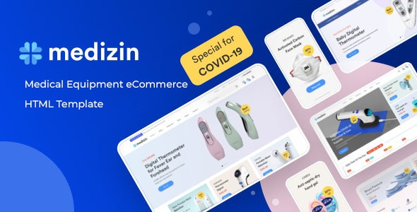Medizin - Medical Equipment eCommerce Bootstrap 5 Template - Shopping Retail