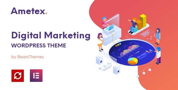 Ametex - Digital Marketing and SEO WordPress Themes - Marketing Corporate