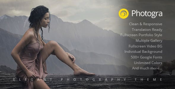 Photogra - Fullscreen Responsive Photography WordPress Theme