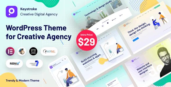 Keystroke - Creative Agency, Digital Agency WordPress Theme - Portfolio Creative