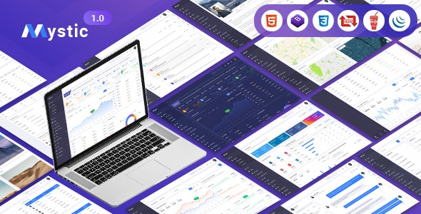 Mystic | Multipurpose Dashboard HTML5 Template - Admin Templates Site Templates
