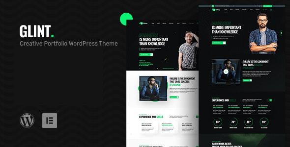 Glint - Personal Portfolio WordPress Theme - Portfolio Creative