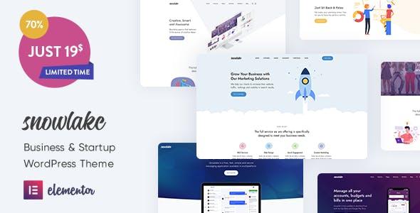 Download Snowlake - Creative Business & Startup WordPress Theme