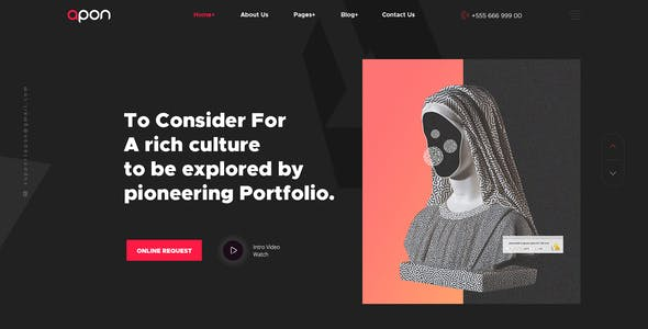 Apon - Creative Personal Portfolio PSD Template.