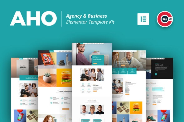 Aho - Agency & Business Elementor Template Kit - Business & Services Elementor
