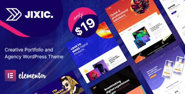 Jixic - Creative Portfolio & Agency WordPress Theme - Portfolio Creative
