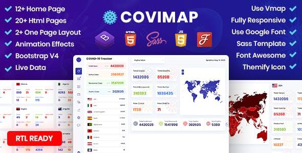 CoviMap - Coronavirus (Covid-19) Medical Prevention Template