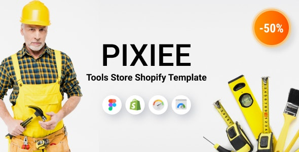 Pixee - Tools Store Shopify Theme - Shopping Shopify
