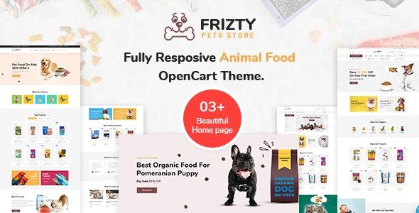 Frizty - Pet Food Store OpenCart Theme - Shopping OpenCart