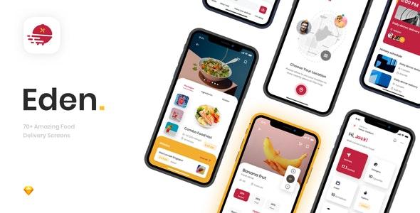Eden - Food Delivery App UI Kit - UI Templates