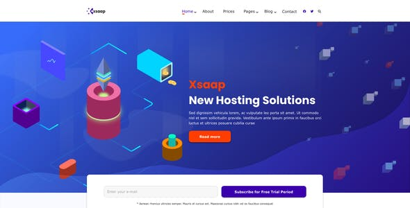 Xsapp – SAAS Company Template for XD