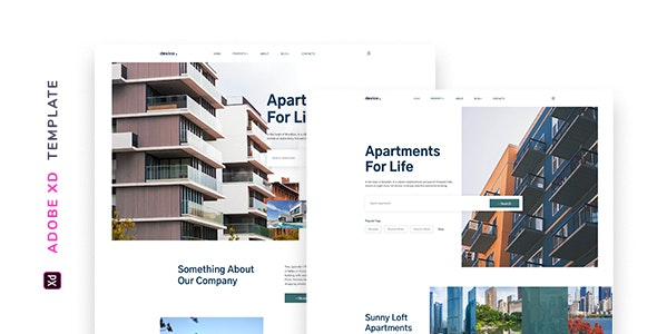 Dexico – Apartment Rent Template for XD - Miscellaneous Adobe XD