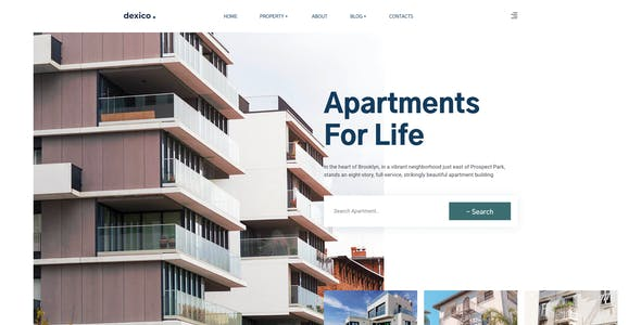 Dexico – Apartment Rent Template for XD