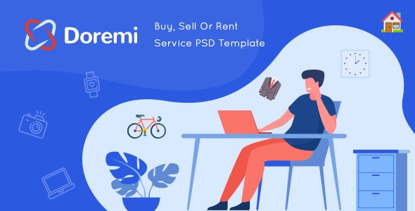Doremi - Rent Anything Template - Retail Adobe XD