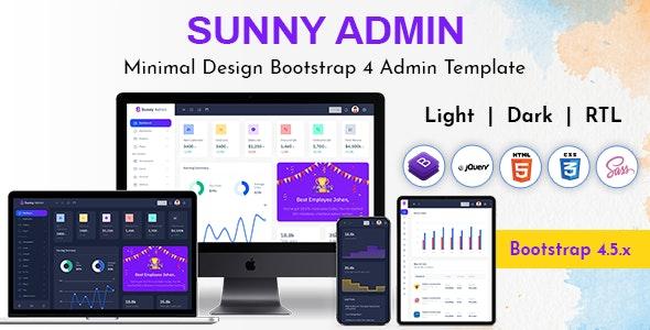 Sunny Bootstrap Admin Dashboard HTML Template - Admin Templates Site Templates