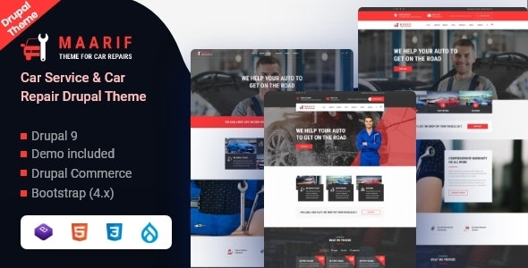 Maarif - Car Service & Car Repair Drupal 9 Theme - Business Corporate