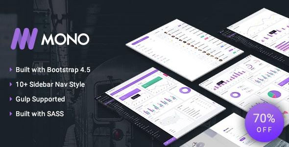 MONO - Admin Template + UI Kit - Admin Templates Site Templates