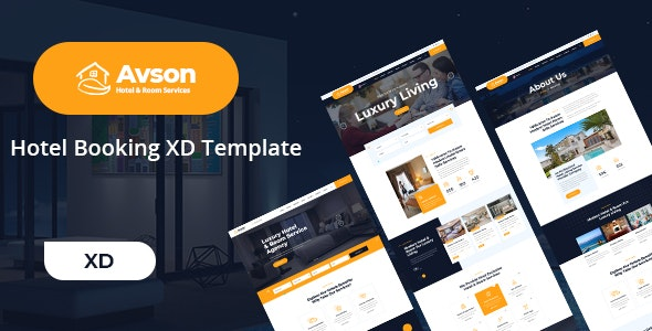 Avson - Hotel Booking XD Template - Travel Retail