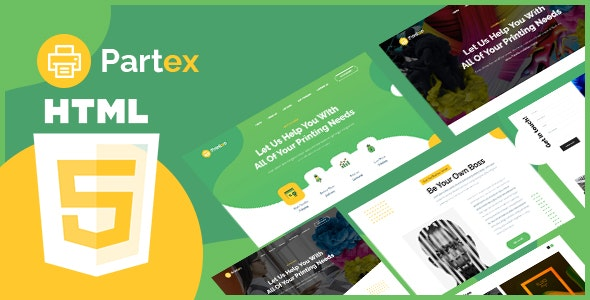 Partex - Printing Services HTML Template. - Corporate Site Templates