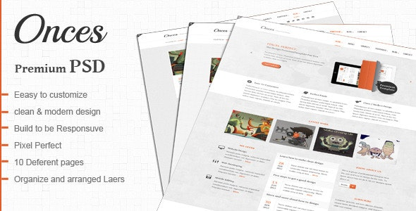 Onces: Modern and Clean PSD - Creative Photoshop