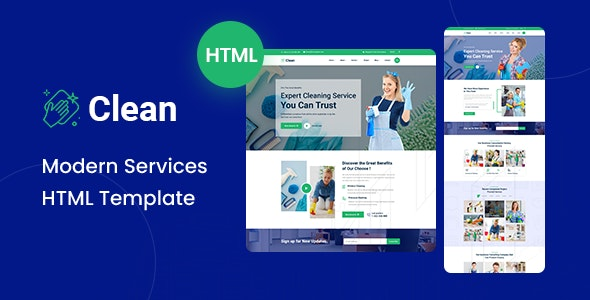 Clean - Modern HTML Template - Creative Site Templates