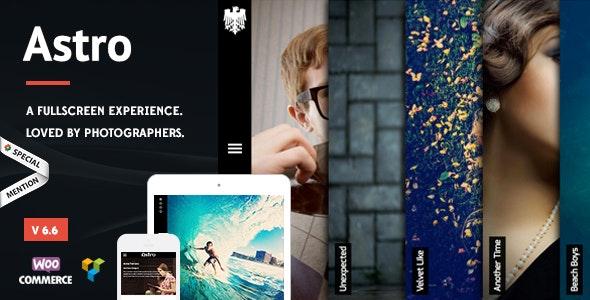 Astro - Photography WordPress Theme - Photography Creative