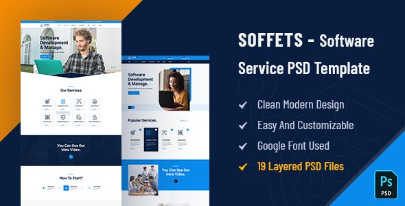 Soffets - Software and IT Service PSD Template - Software Technology