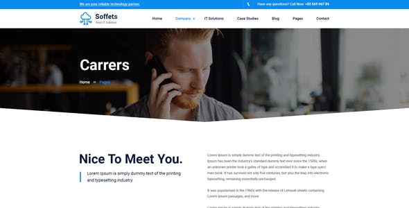 Soffets - Software and IT Service PSD Template
