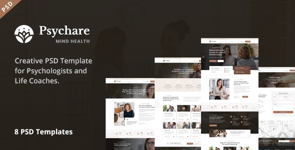 Psychare - PSD Template for Psychologists - Health & Beauty Retail