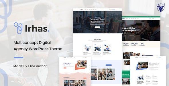 Download Irhas   Digital Agency WordPress Theme