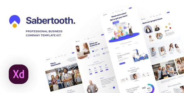Sabertooth | Business Service UI Kit for Adobe XD - Business Corporate