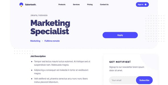 Sabertooth | Business Service UI Kit for Adobe XD