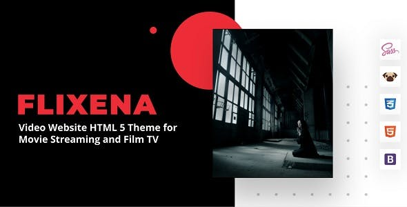 Flixena - Video Website HTML 5 Template for Movie Streaming and Film TV